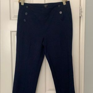 Loft Sailor Style Navy Blue Women's Pants